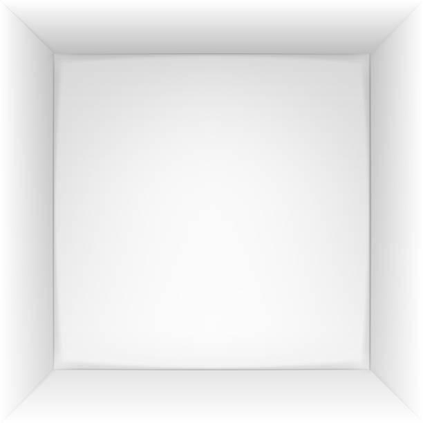Box 3d top view. Vector illustration. Box 3d top view. Vector illustration. Eps 10. inside of stock illustrations