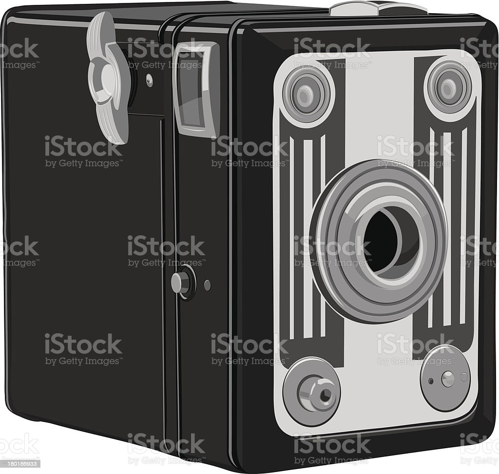 Box Camera vector art illustration