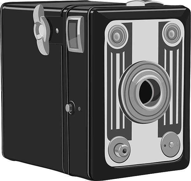 Box Camera vector art illustration
