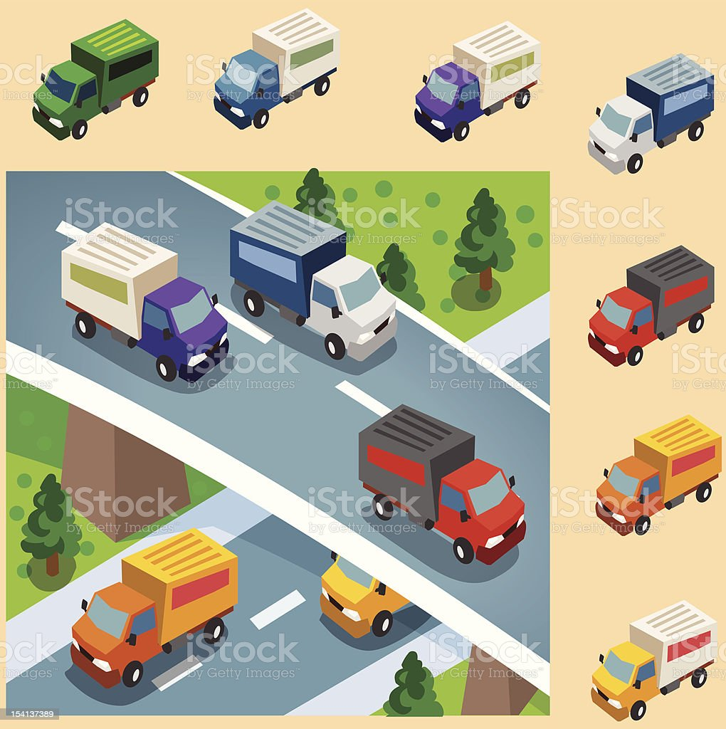 Box Car delivery royalty-free box car delivery stock vector art & more images of box - container