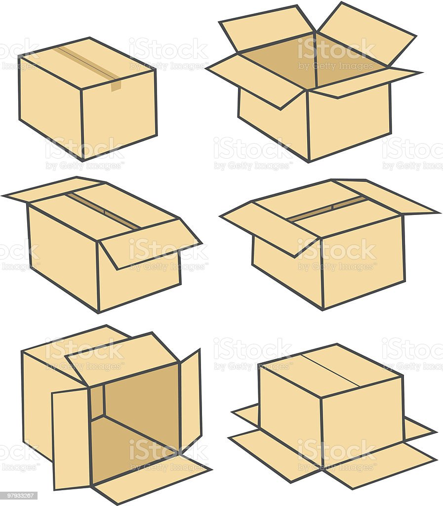 Box collections royalty-free stock vector art