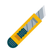 istock Box Cutter Icon on Transparent Background 1283087235
