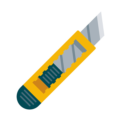 Box Cutter Icon on Transparent Background