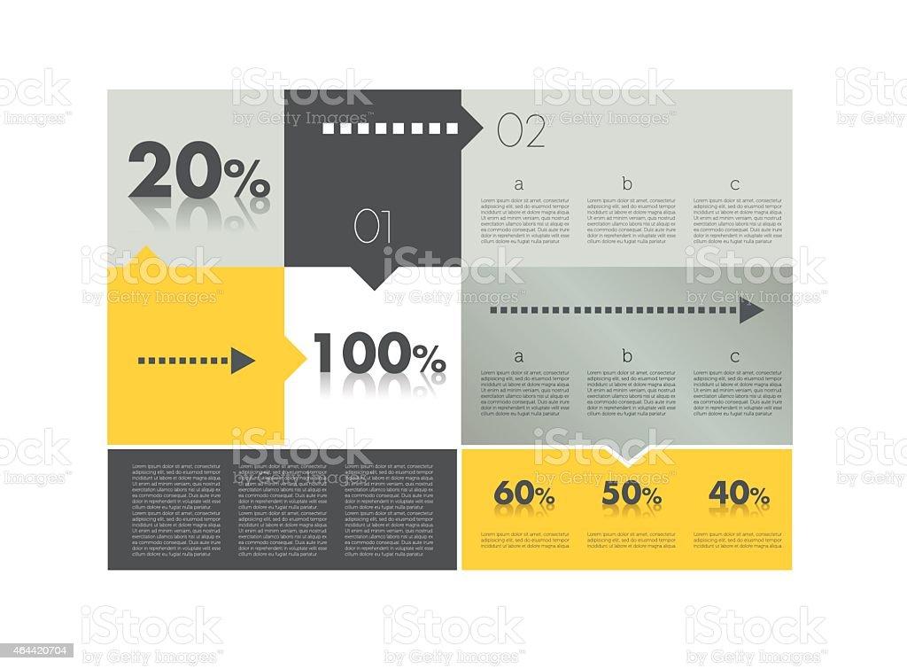 Box diagram for infographics. Web diagram template. vector art illustration