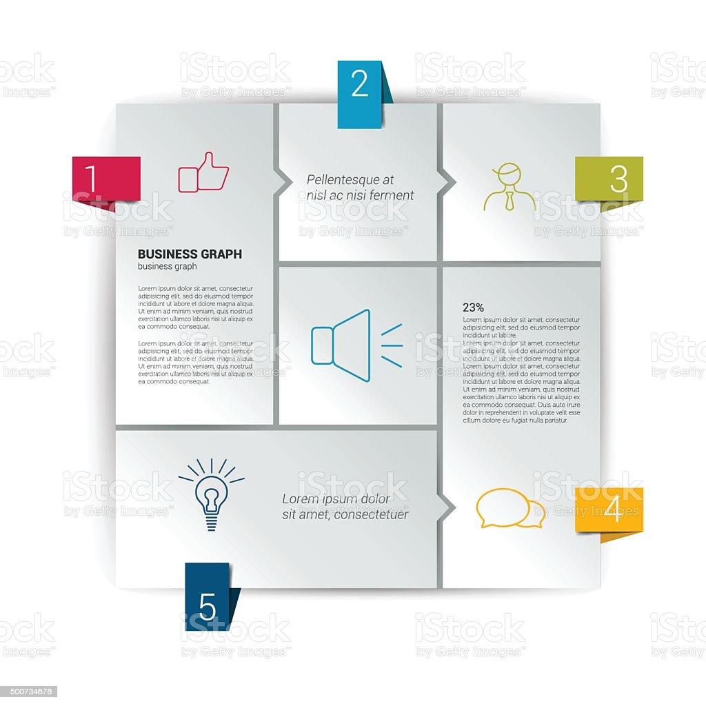 ボックス図のインフォグラフィックます ウェブサイトテンプレートの図