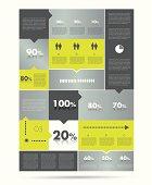 Box diagram, template. Infographics module scheme.