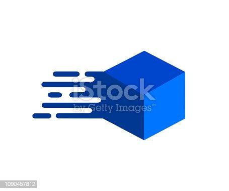 Box exprees logo – stock vector