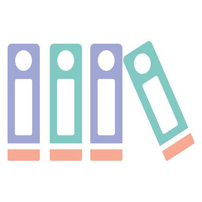 Box file clipart  icon design vector