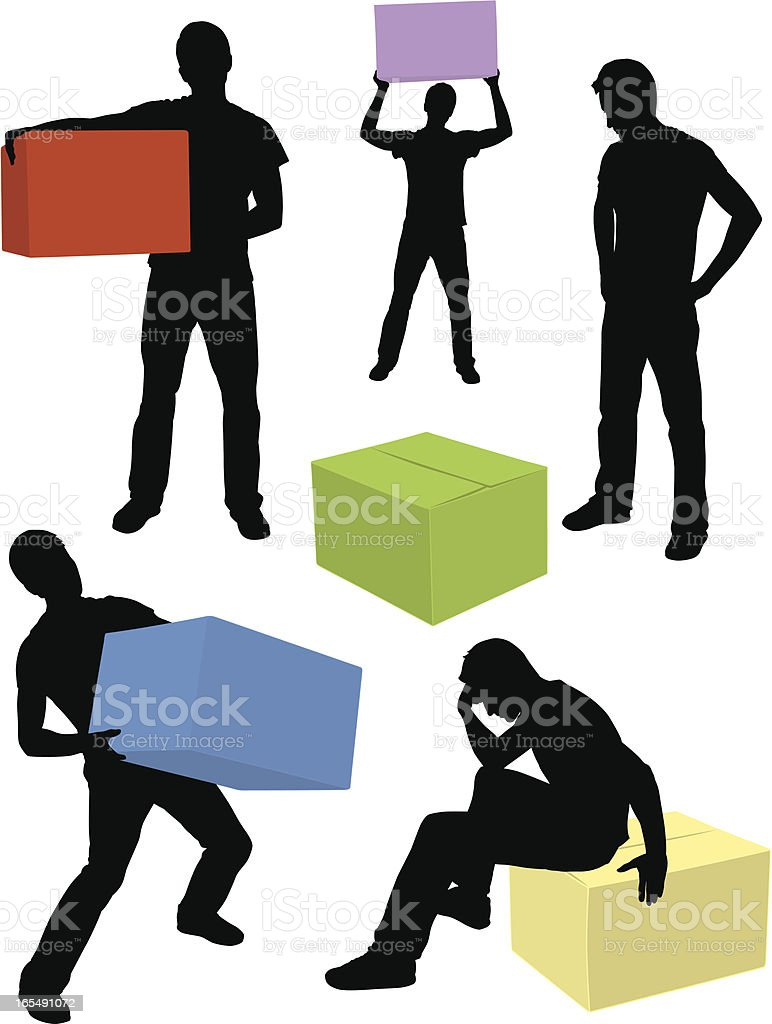 Box Guy royalty-free box guy stock vector art & more images of activity