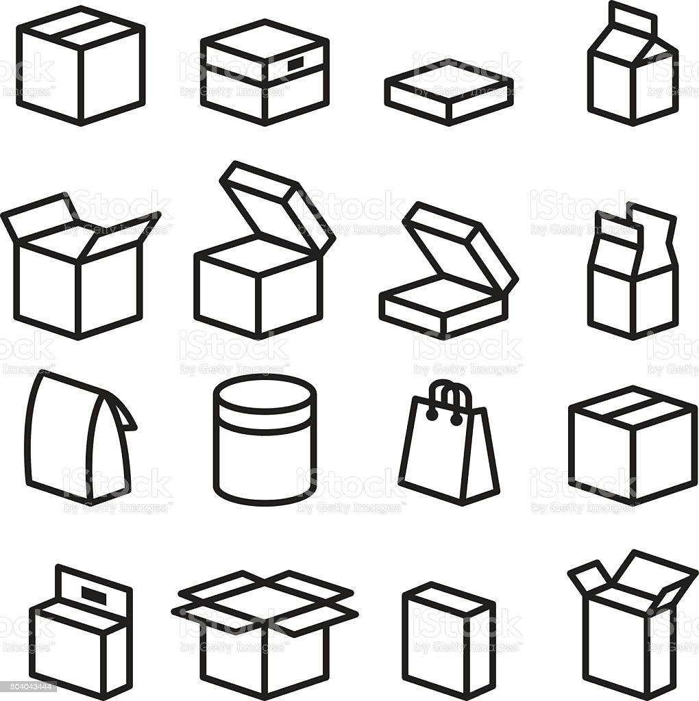 Box icons vector art illustration