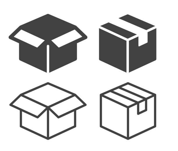 bildbanksillustrationer, clip art samt tecknat material och ikoner med box - illustration ikoner - paket