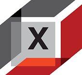 Box Initial X