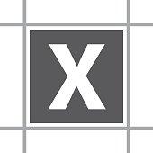 Box Letter X