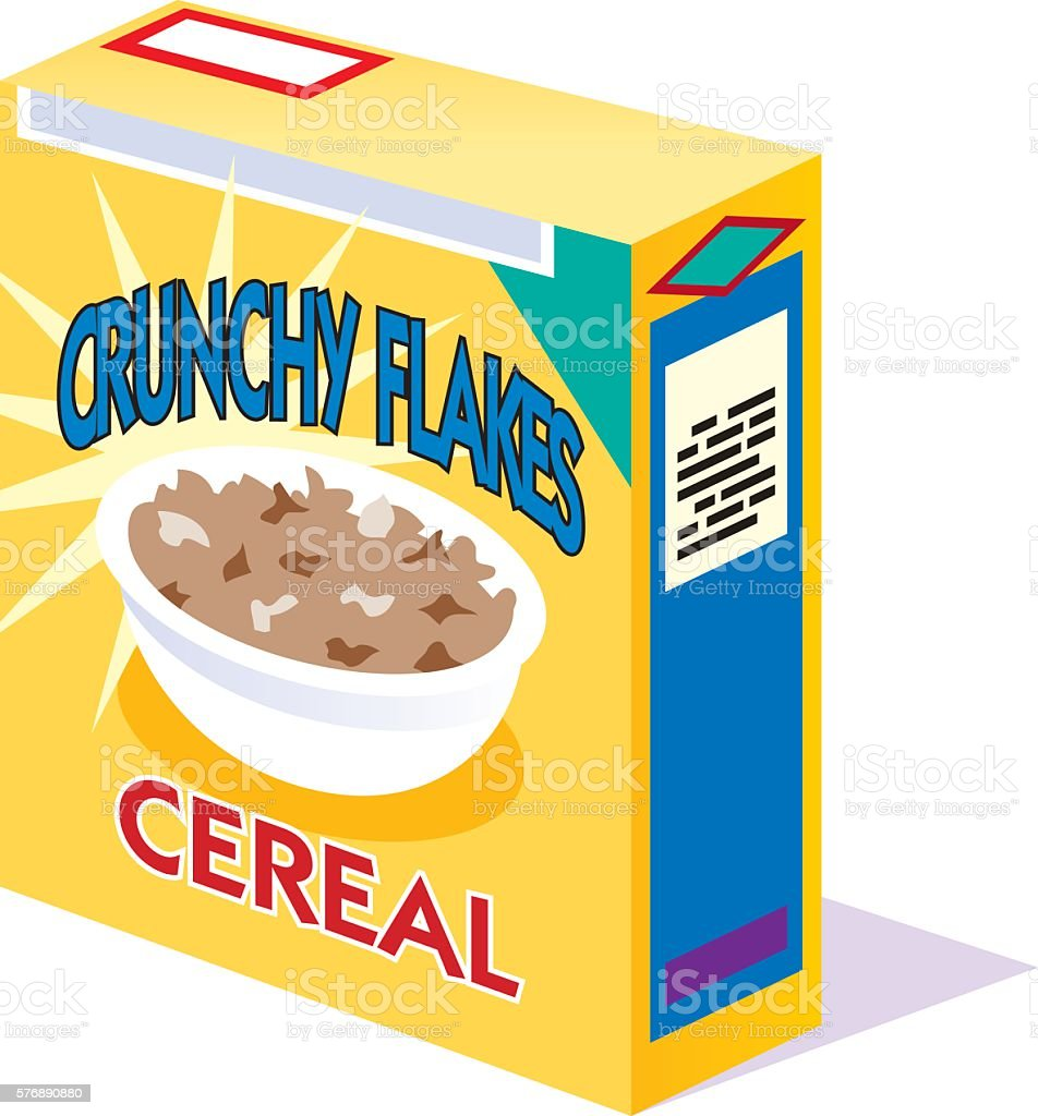 box of generic breakfast cereal stock vector art more images of
