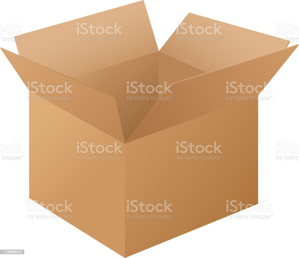 Caja en blanco ilustración de caja en blanco y más banco de imágenes de ilustración libre de derechos