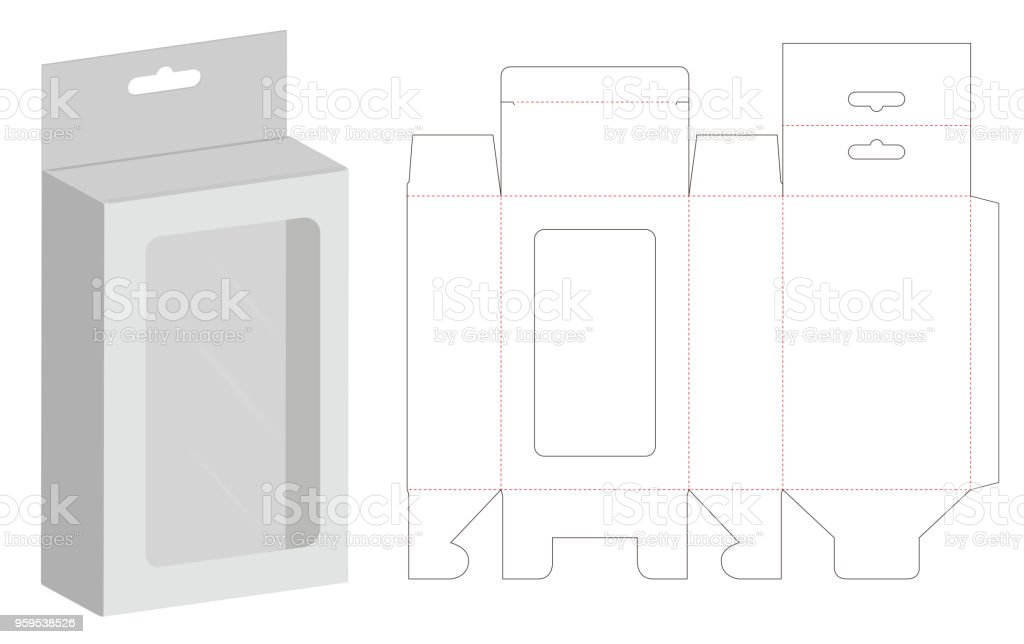 Box Packaging Die Cut Template 3d Mockup Stock Vector Art & More ...