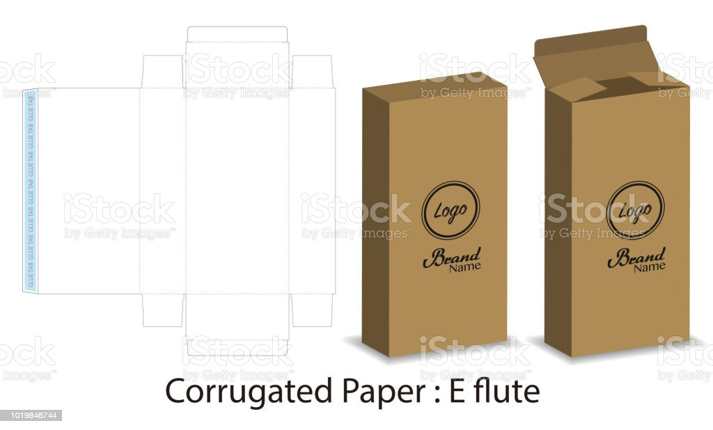 Box Packaging Die Cut Template Design 3d Mockup Stock Vector Art ...