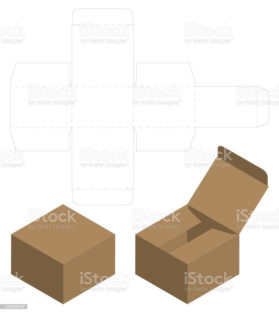 テンプレート デザインをカット ボックス包装死ぬ3 d モックアップ