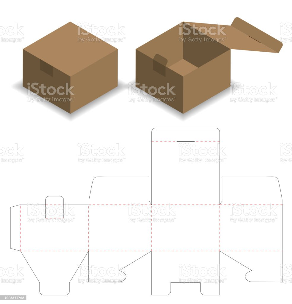 Food Box Packaging Design Templates Tapered Square Fast Food Box ...