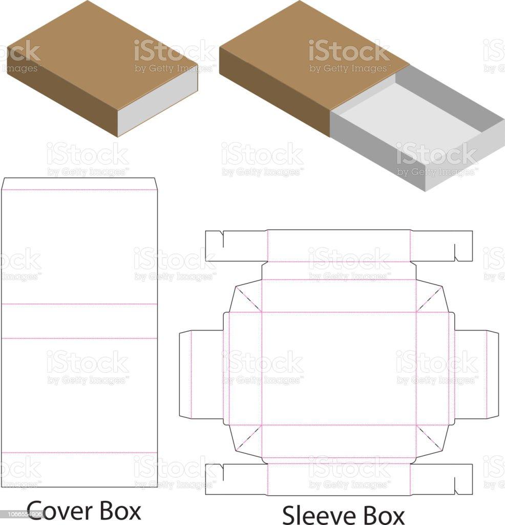Box Packaging Die Cut Template Design 3d Mock Up Royalty Free