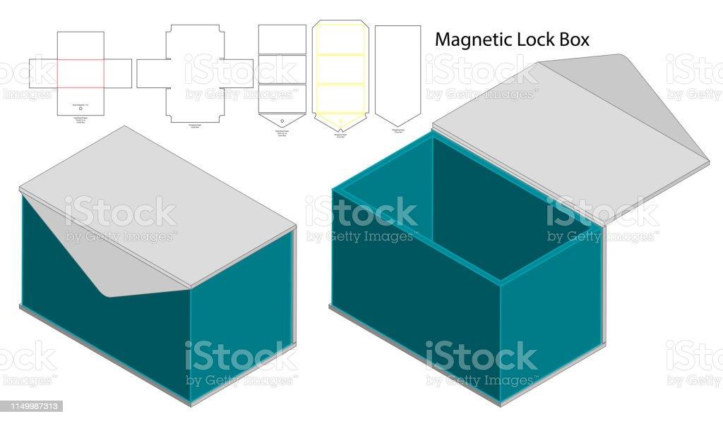Box Packaging Die Cut Template Design 3d Mockup Stock Illustration