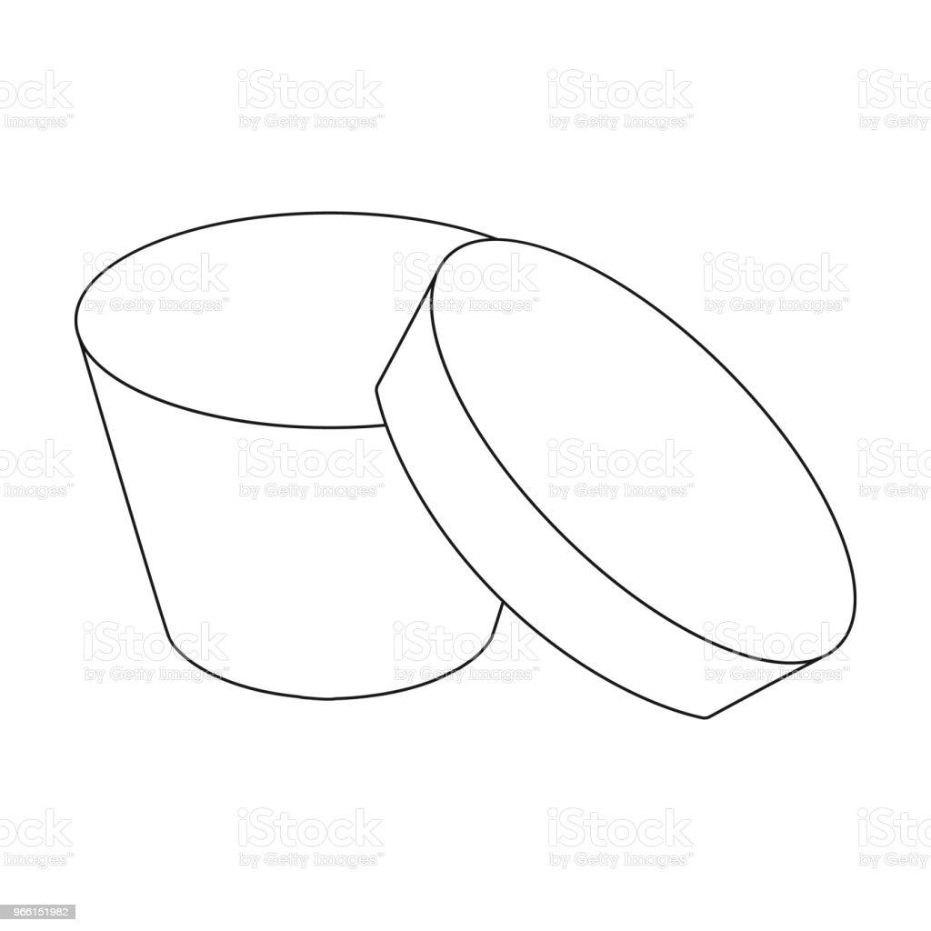 Caja de embalaje, papel y otro icono de la web en estilo de contorno. Carcasa, marco, caso, los iconos de la colección conjunto. - arte vectorial de Beige libre de derechos