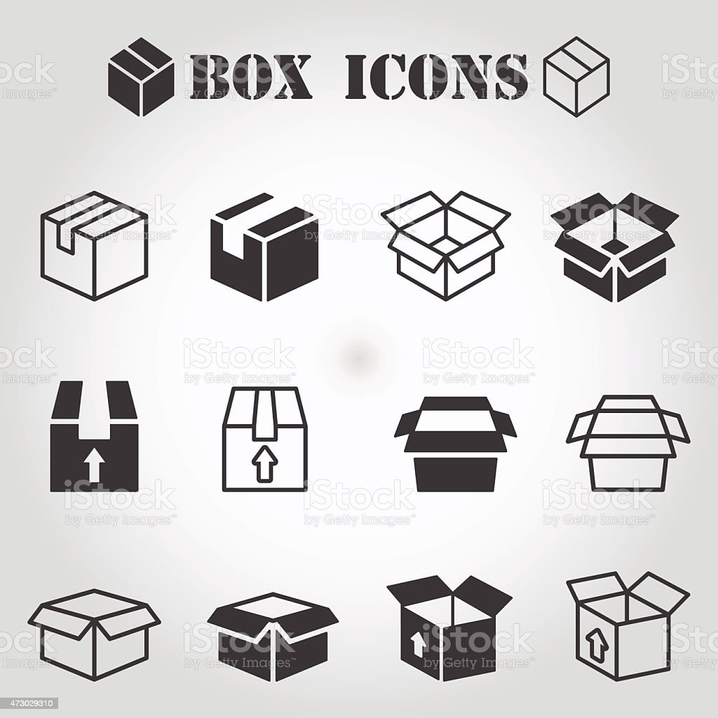 Box pictogram vector art illustration