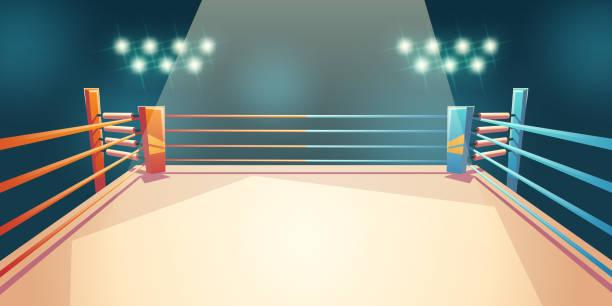 Box-Ring, Arena für Sportkämpfe. Leere Fläche – Vektorgrafik
