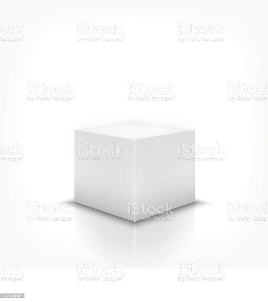 box stand vector art illustration