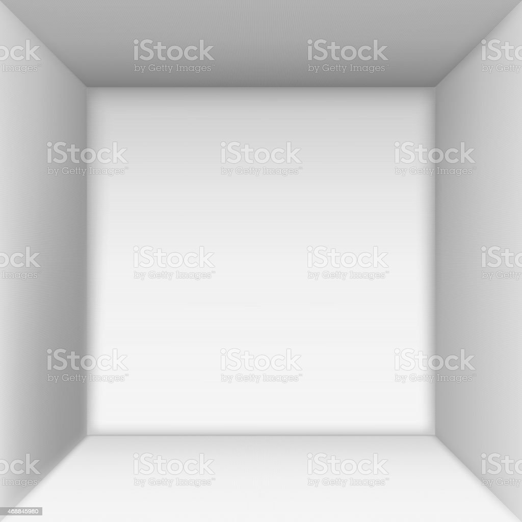 Box top view. vector art illustration