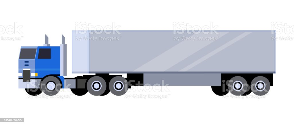 Box trailer truck - Royalty-free Abstract stock vector