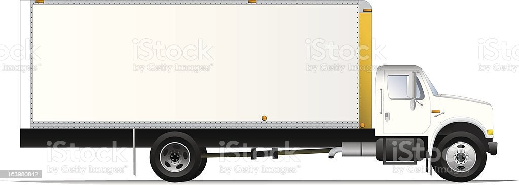 Box Truck vector art illustration