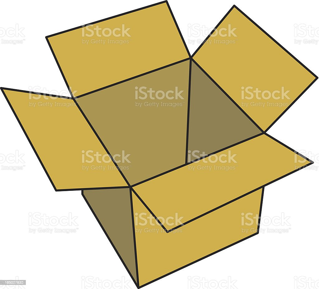 Box royalty-free stock vector art