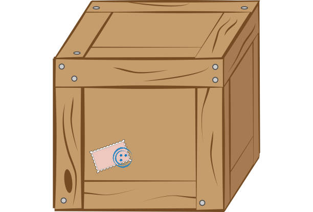 Box with a stamp illustration vector art illustration