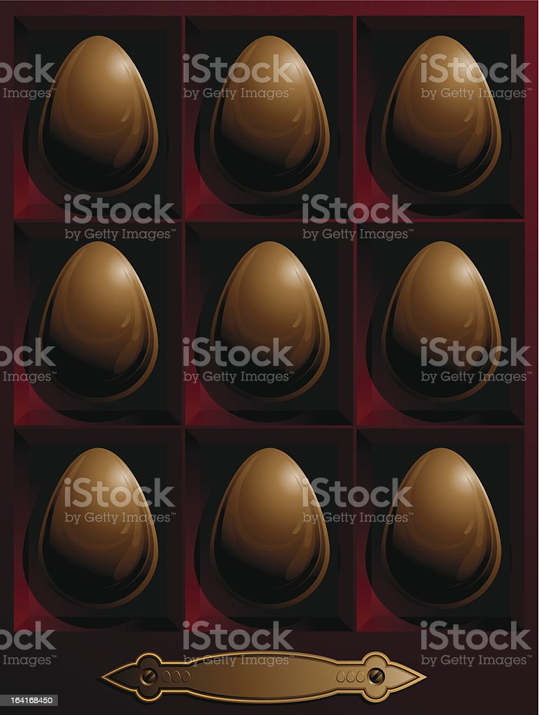 box with chocolate easter eggs royalty-free box with chocolate easter eggs stock vector art & more images of abstract
