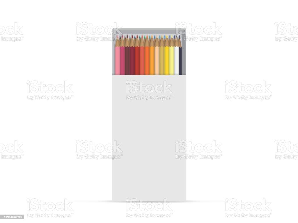 당신의 디자인 및 로고에 대 한 연필 함께 상자. - 로열티 프리 3차원 형태 벡터 아트