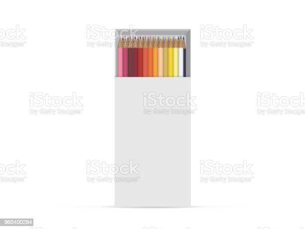 Vetores de Caixa Com Lápis Para Seus Projeto E Logotipo e mais imagens de Acima