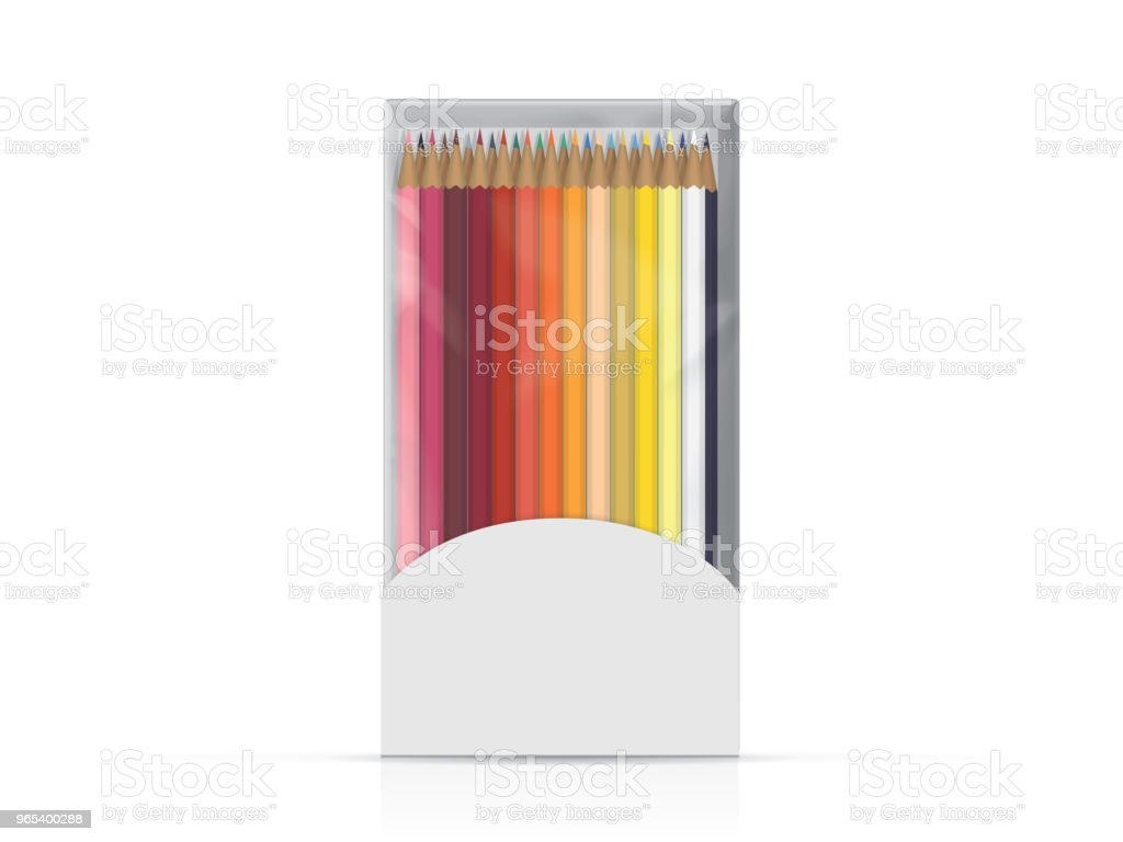 Box with pencils for your design and logo. royalty-free box with pencils for your design and logo stock illustration - download image now