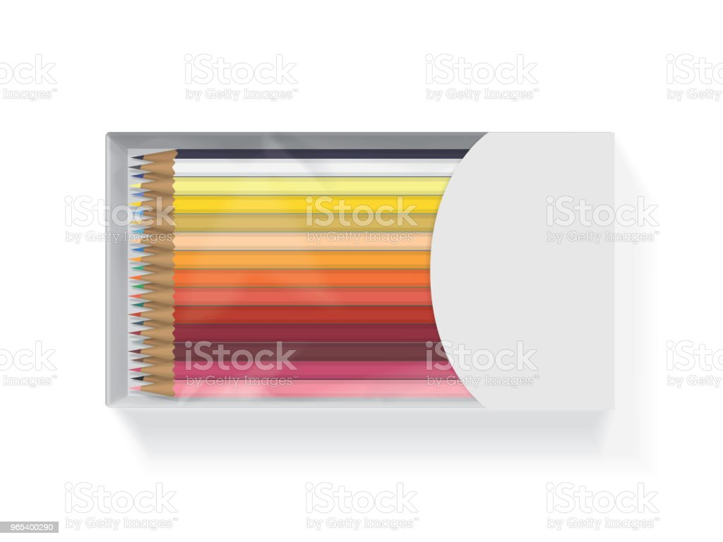 Box with pencils for your design and logo. box with pencils for your design and logo - stockowe grafiki wektorowe i więcej obrazów biały royalty-free