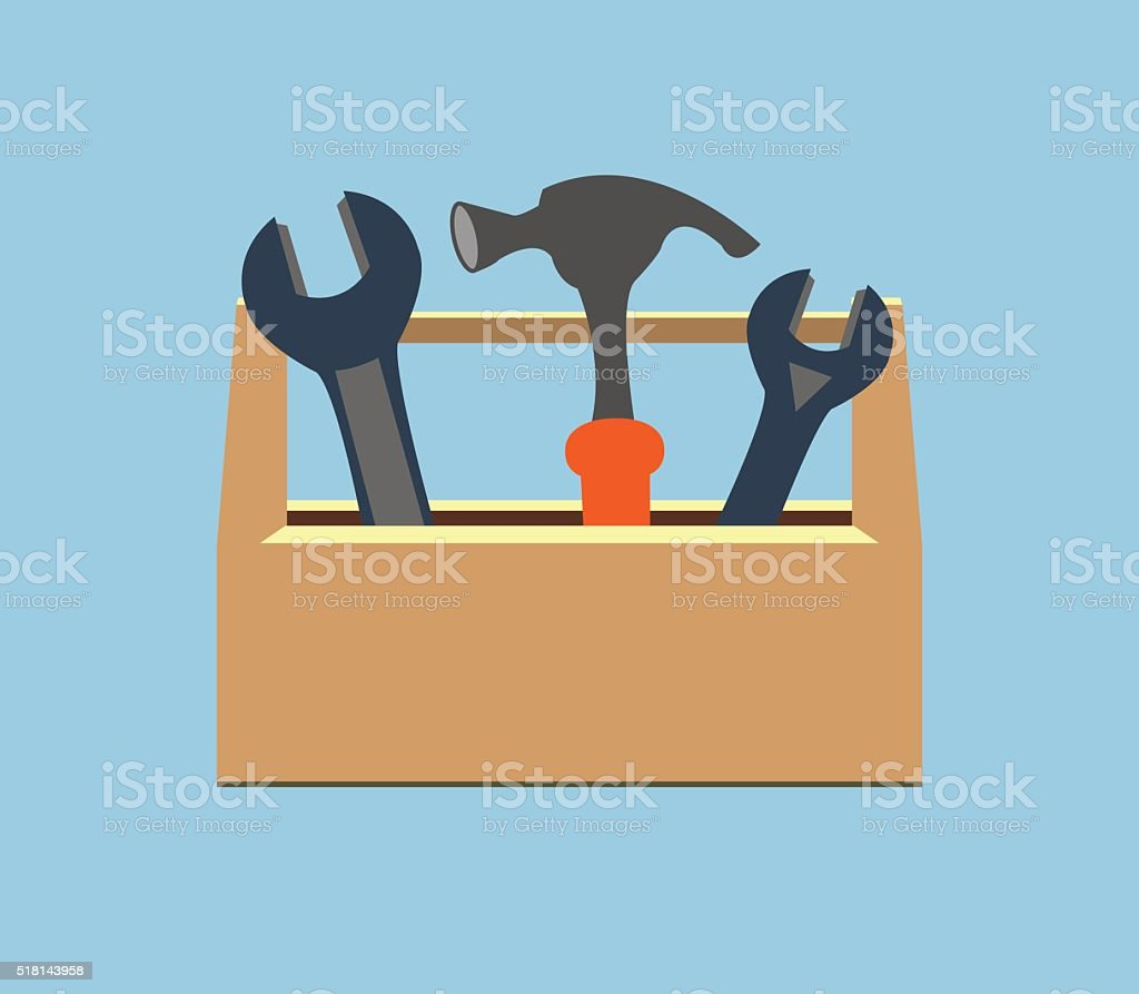 Royalty Free Open Tool Box Clip Art  Vector Images