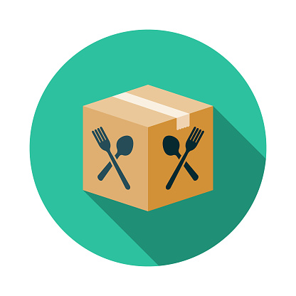 Boxed Meal Kit Icon