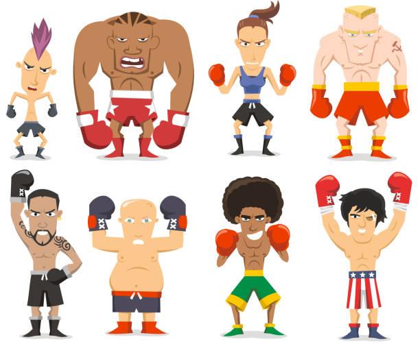 Boxer-Kollektion – Vektorgrafik