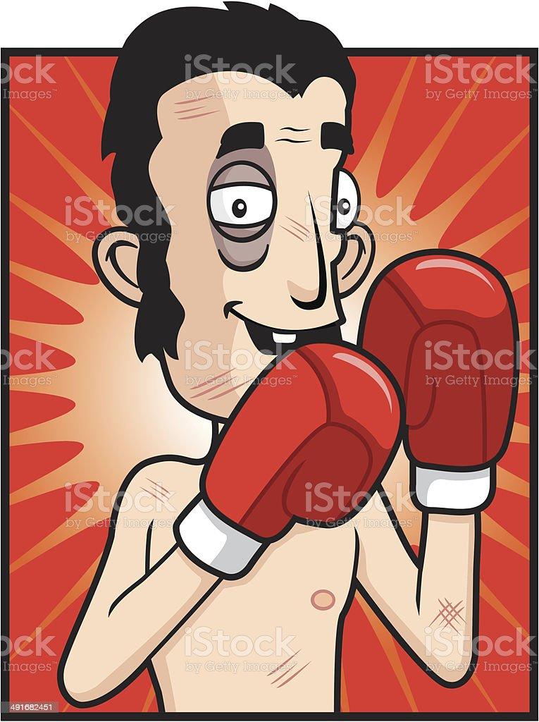 Boxer Fight vector art illustration