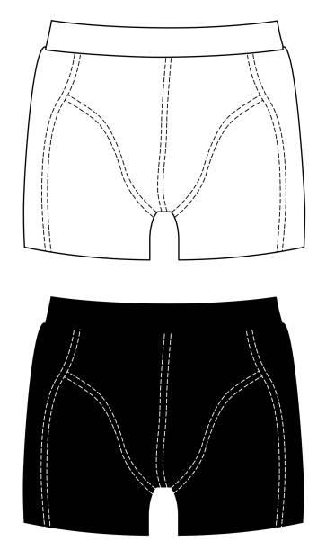 Bекторная иллюстрация Boxer shorts set