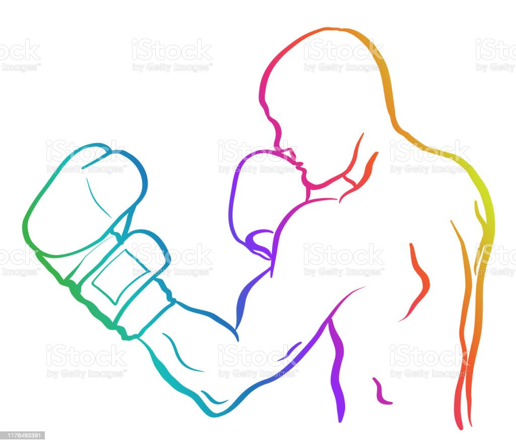 Boxer Sketch Drawing Rainbow Stock Illustration Download Image Now Istock
