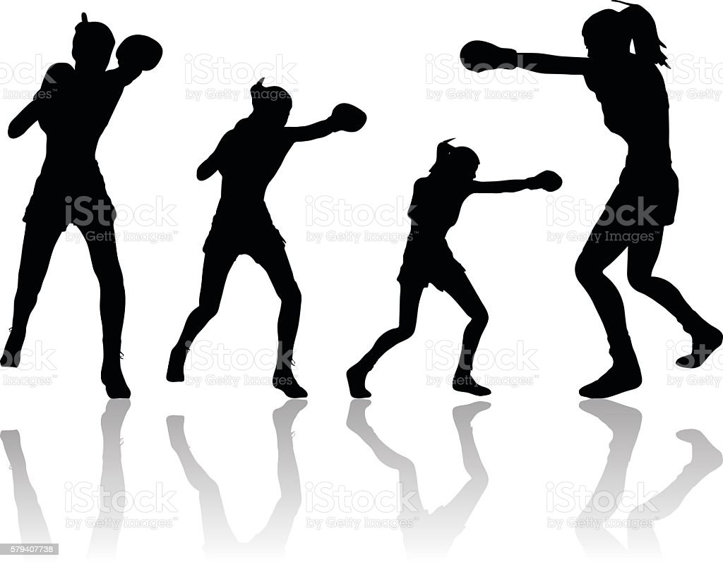 royalty free female boxing clip art vector images illustrations rh istockphoto com free clipart boxing boxing clipart logo