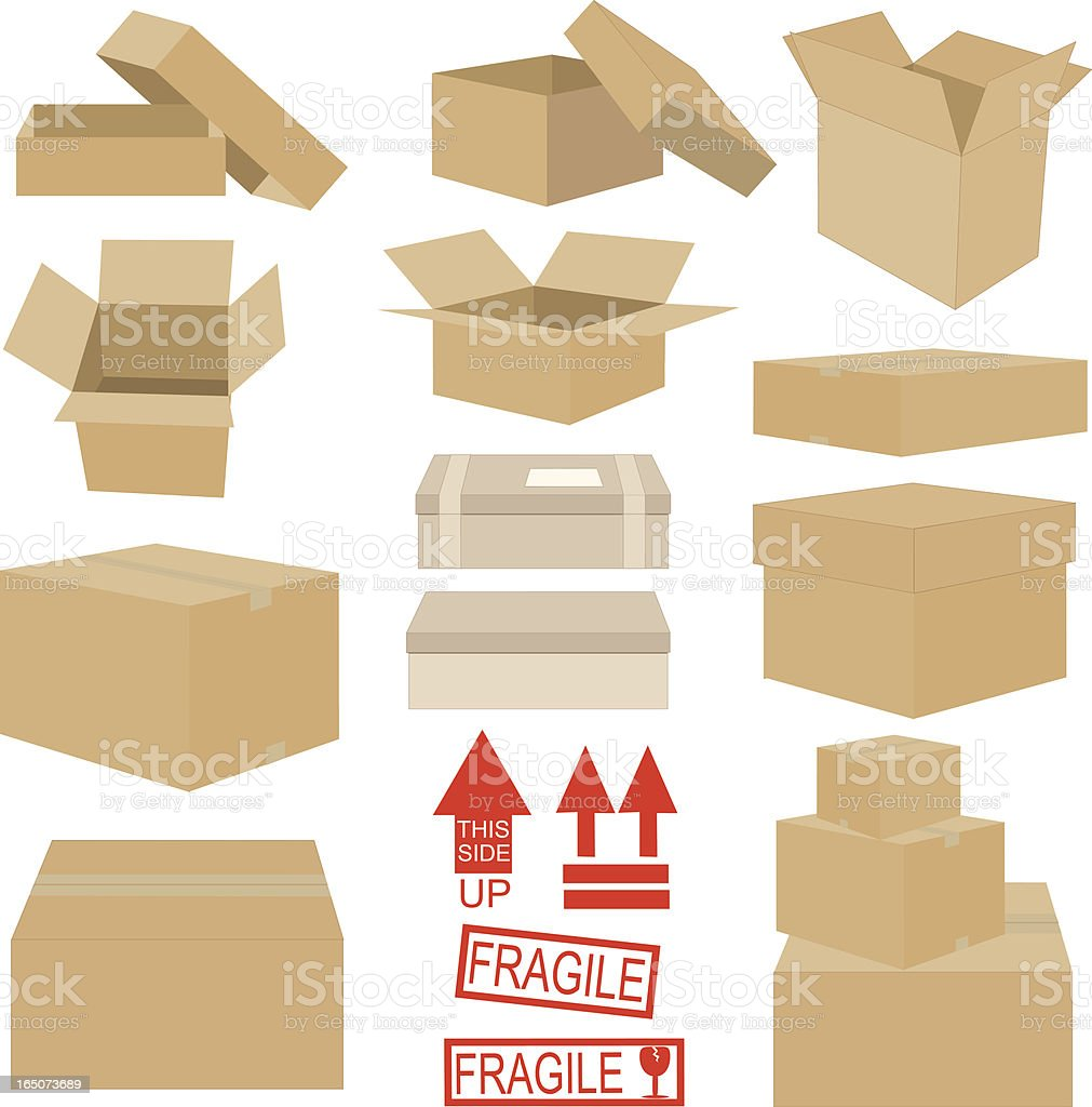Boxes and Stuff vector art illustration
