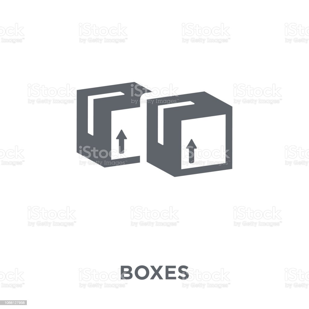 Boxes icon from Delivery and logistic collection. vector art illustration