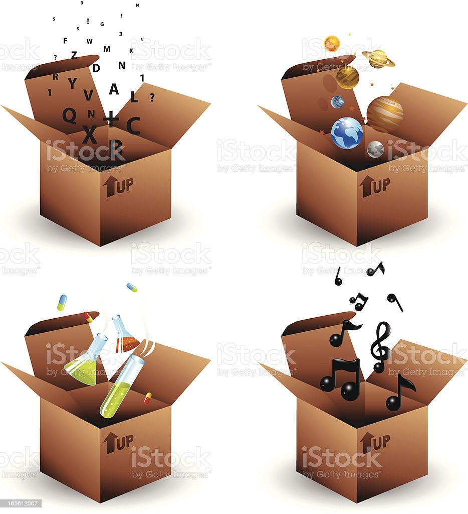 Boxes of ideas royalty-free boxes of ideas stock vector art & more images of alphabet