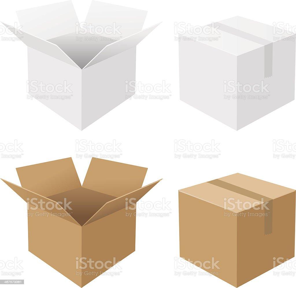 Best Cardboard Box Illustrations  Royalty